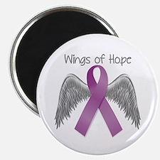 Wings of Hope in Purple Magnet