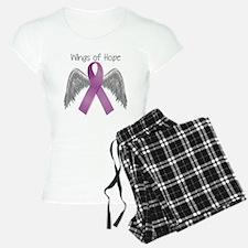 Wings of Hope in Purple pajamas