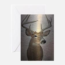 grunge texture western deer Greeting Cards