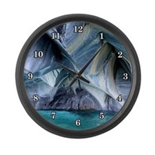 MARBLE CAVES 1 Large Wall Clock