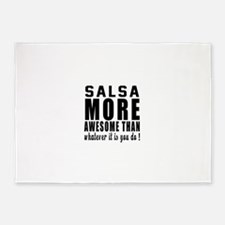 Salsa more awesome designs 5'x7'Area Rug