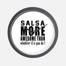 Salsa more awesome designs Wall Clock