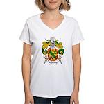 Albeniz Family Crest Women's V-Neck T-Shirt