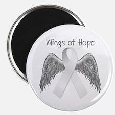 Wings of Hope Silver Magnet