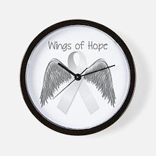 Wings of Hope Silver Wall Clock