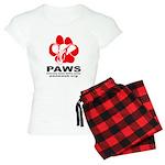 Paws Logo - Women's Light Pajamas Plaid