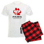 Paws Logo - Men's Light Pajamas Plaid