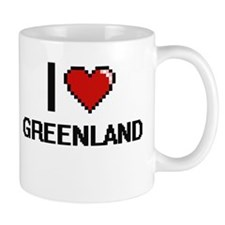 I Love Greenland Digital Design Mugs
