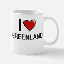 I Love Greenland Digital Design Mugs