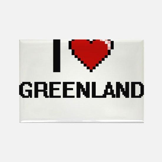 I Love Greenland Digital Design Magnets