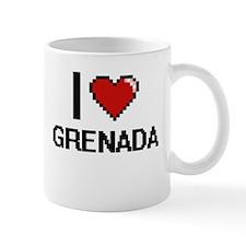 I Love Grenada Digital Design Mugs