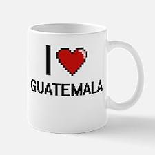 I Love Guatemala Digital Design Mugs