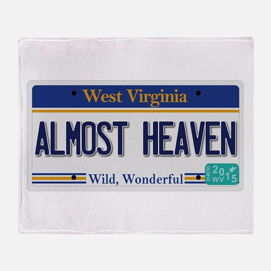 West Virginia - Almost Heaven Throw Blanket