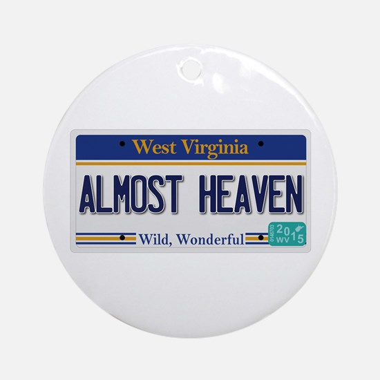 West Virginia - Almost Heaven Round Ornament