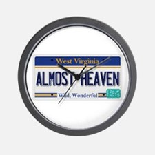 West Virginia - Almost Heaven Wall Clock