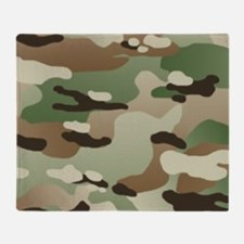 U.S. Army New Camouflage Pattern Throw Blanket