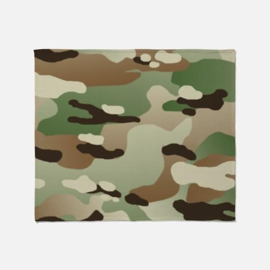 U.S. Army New Camouflage Pattern Throw Blanket