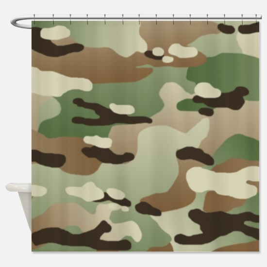 U.S. Army New Camouflage Pattern Shower Curtain