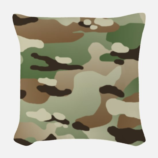 U.S. Army New Camouflage Patte Woven Throw Pillow