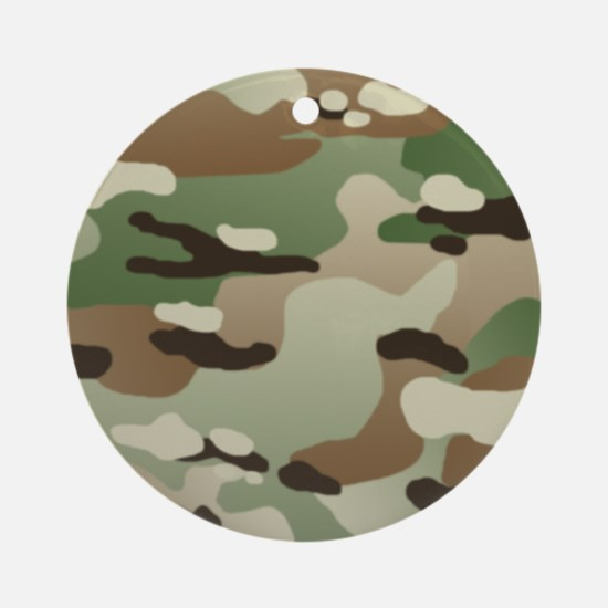 U.S. Army New Camouflage Pattern Round Ornament