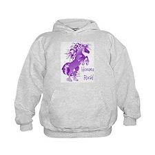 Horses Rock- Purple (Front) Hoodie