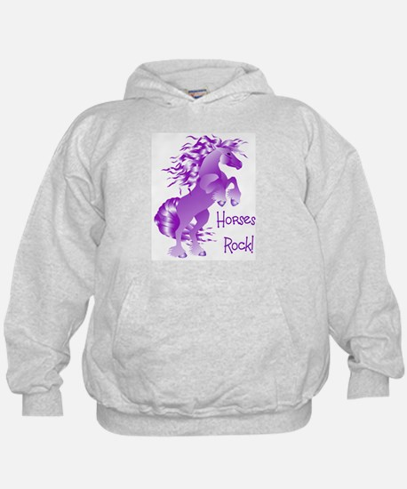 Horses Rock- Purple (Front) Hoody