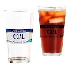 West Virginia - Coal Drinking Glass