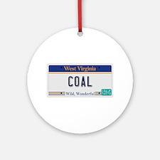 West Virginia - Coal Round Ornament