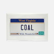 West Virginia - Coal Rectangle Magnet