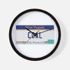 West Virginia - Coal Wall Clock