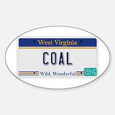 West Virginia - Coal Sticker (Oval)