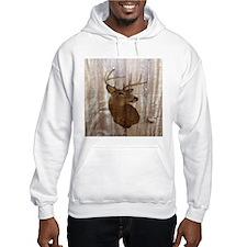 rustic western country deer Hoodie