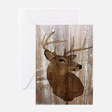 rustic western country deer Greeting Cards