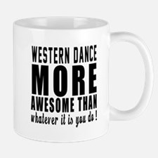 Western more awesome designs Small Mugs