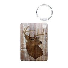 rustic western country deer Keychains