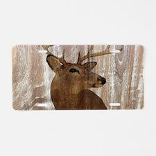 rustic western country deer Aluminum License Plate
