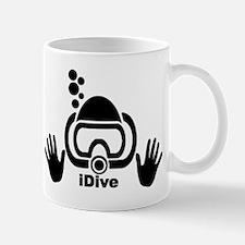 idive black Mugs