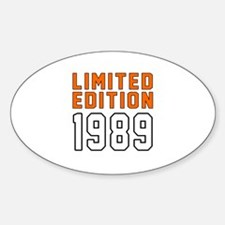 Limited Edition 1989 Decal