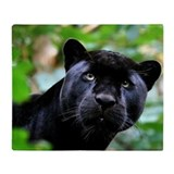 Black panther animal Fleece Blankets