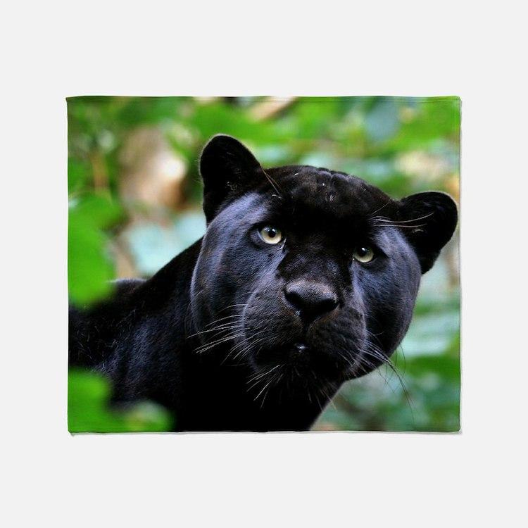 Black Panther Cat Throw Blanket
