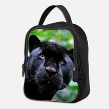 Black Panther Cat Neoprene Lunch Bag
