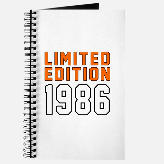 Limited Edition 1986 Journal