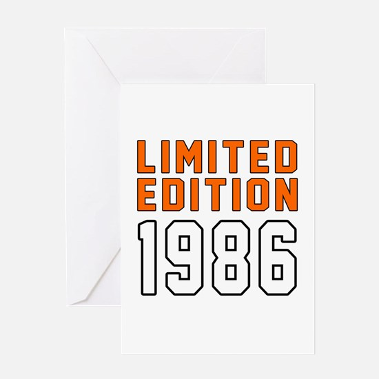 Limited Edition 1986 Greeting Card