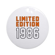 Limited Edition 1986 Round Ornament
