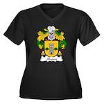 Alamo Family Crest Women's Plus Size V-Neck Dark T