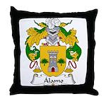 Alamo Family Crest Throw Pillow