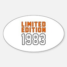 Limited Edition 1983 Decal