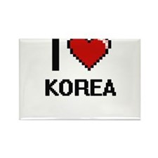 I Love Korea Digital Design Magnets