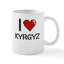 I Love Kyrgyz Digital Design Mugs