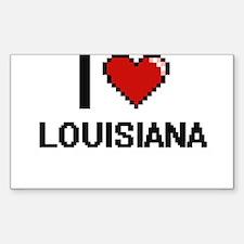 I Love Louisiana Digital Design Decal